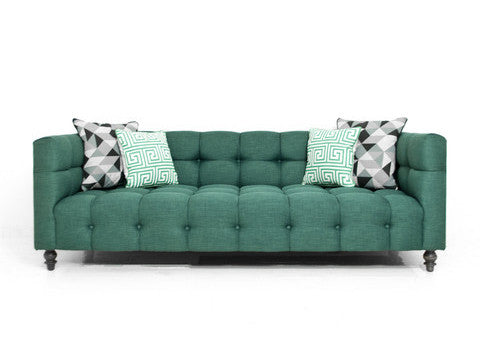 Delano Sofa in Emerald Linen