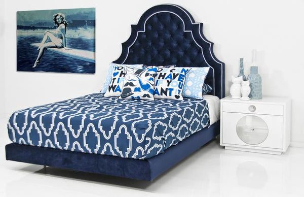 Marrakesh Bed in Navy Velvet