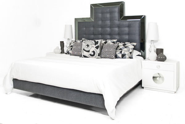 Rocker Santorini Bed in Stingray Gray