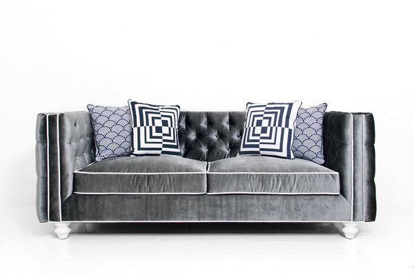 New Deep Inside Out Sofa in Charcoal Velvet