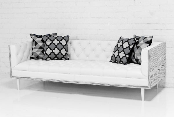 Koenig Sofa in Genuine White Leather