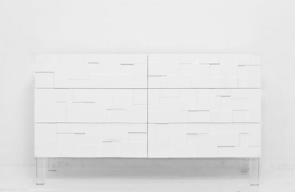 Kubist Dresser in White