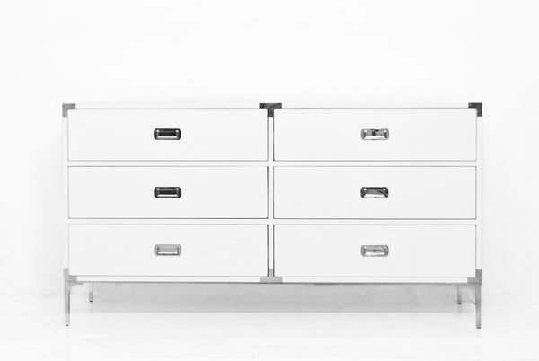 Jet Setter Dresser in White Gloss