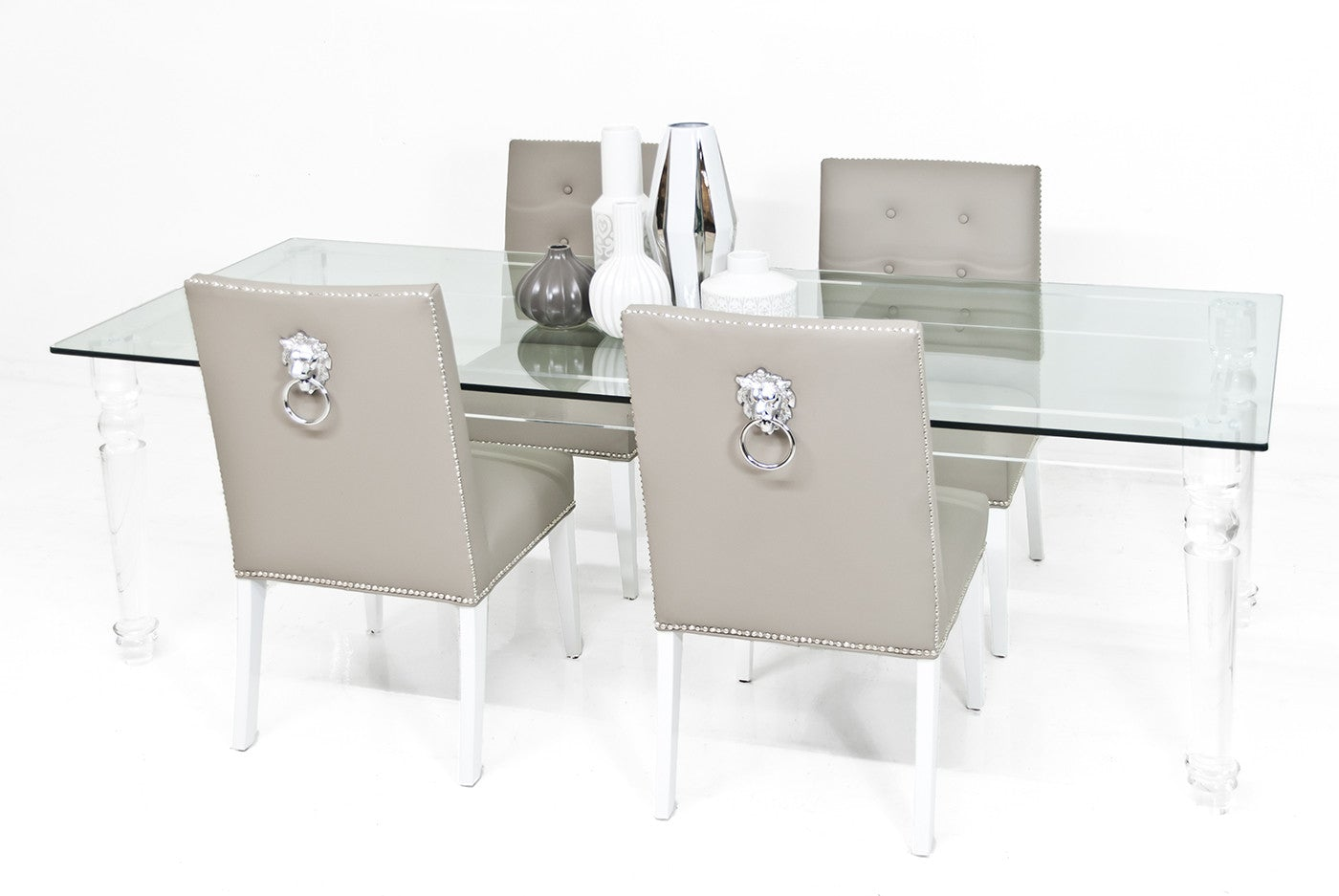 Beverly Hills Lucite And Glass Dining Table Modshop