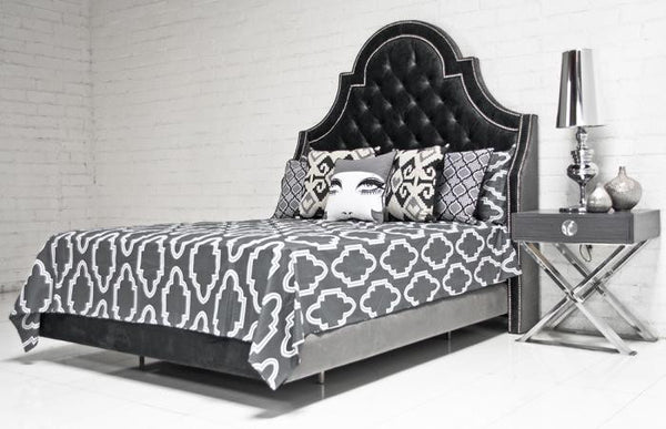 Casablanca Bedding in Charcoal