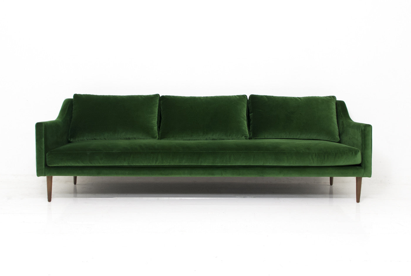 Naples Sofa In Emerald Green Velvet Modshop