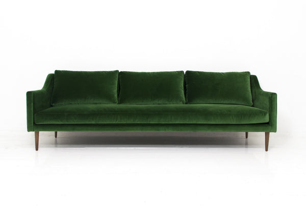 Naples Sofa in Emerald Green Velvet
