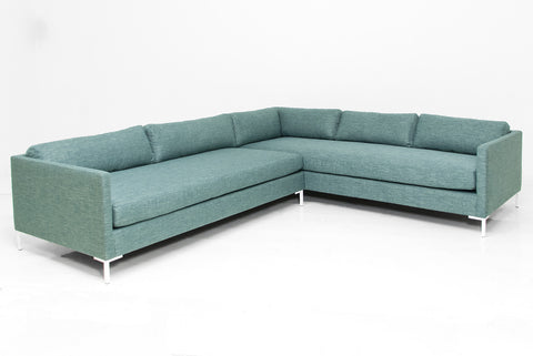 teal kitchen cabinets slim jim sectional in key largo teal linen modshop 2683