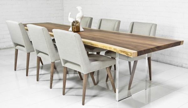 Eco Slab Dining Table With Lucite Plinth Legs