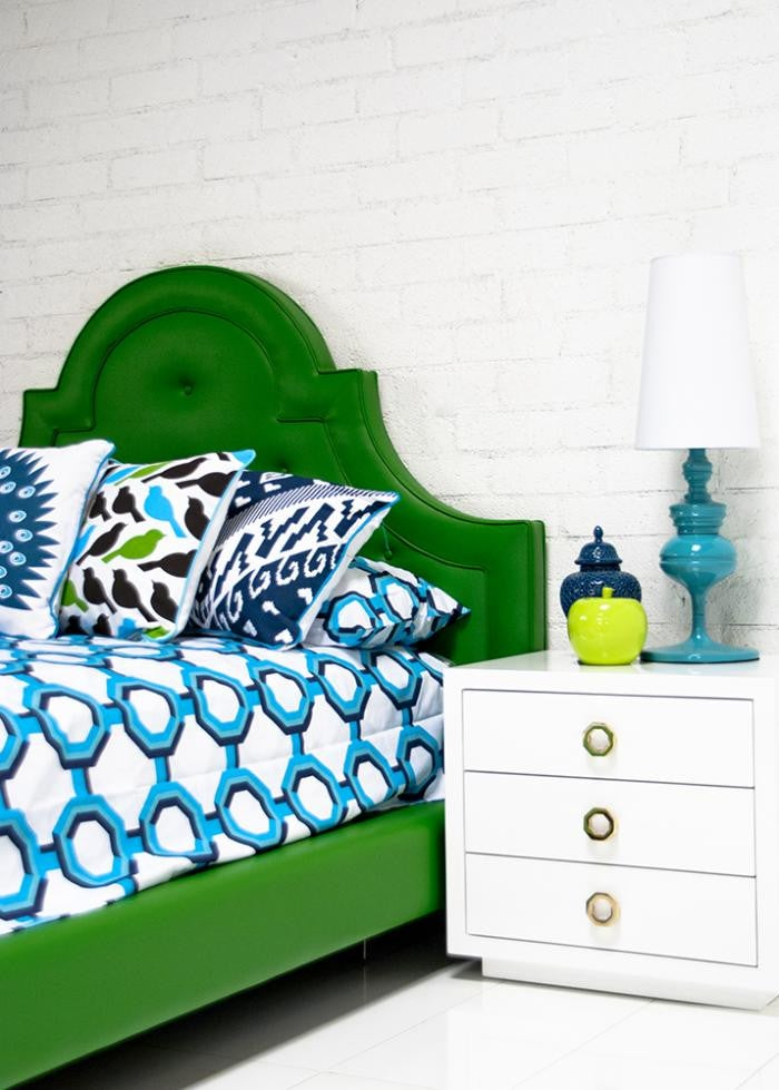 Palm Beach Bedding in Turquoise/Navy/Aqua - ModShop1.com