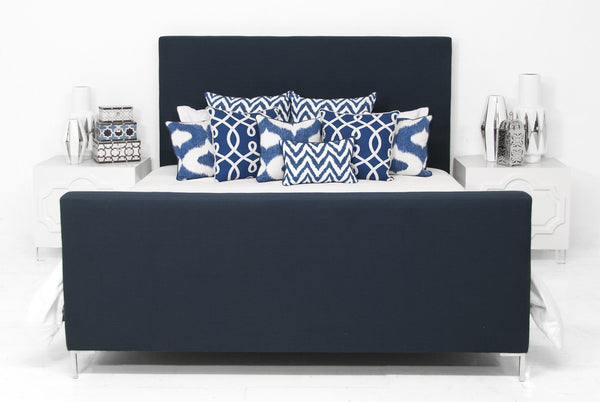 Slim Jim Bed in Navy Linen - ModShop1.com