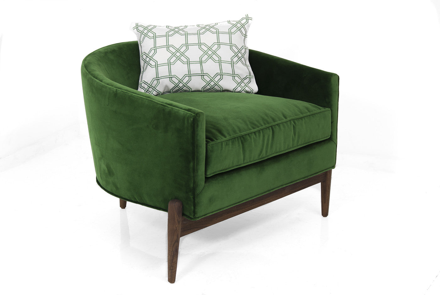 Modern art deco furniture - Art Deco Chair In Emerald Velvet
