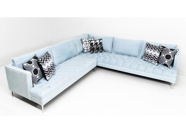 Down With Love Sectional in Ice Blue