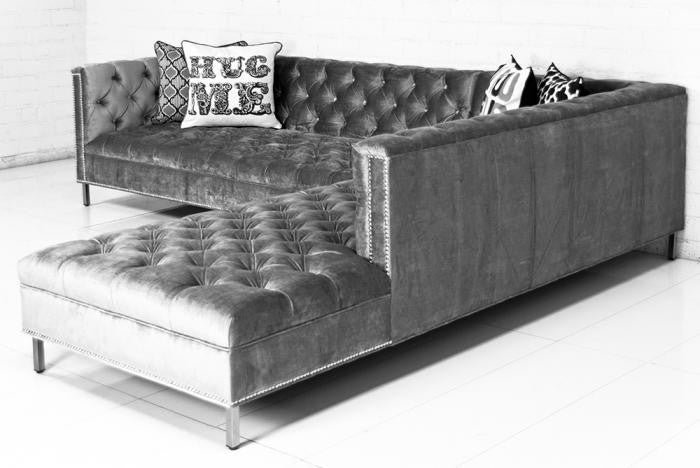 Hollywood Sectional in Brussels Charcoal - ModShop1.com