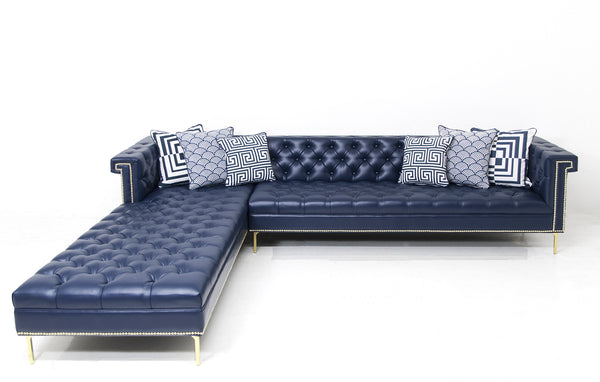 Sinatra Sectional in Mesa Marine Faux Leather