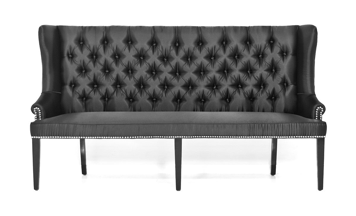 Florence Dining Loveseat in Tufted Linen - ModShop1.com