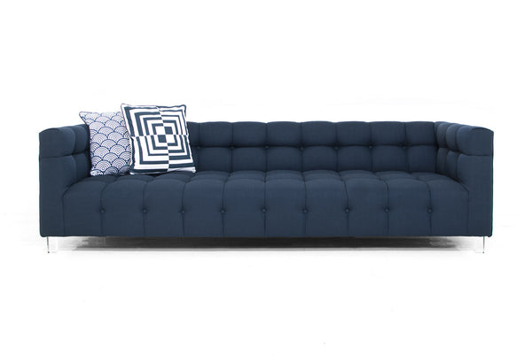 Delano Sofa in Klein Midnight Linen
