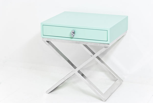 Boca X Leg Side Table in Mint