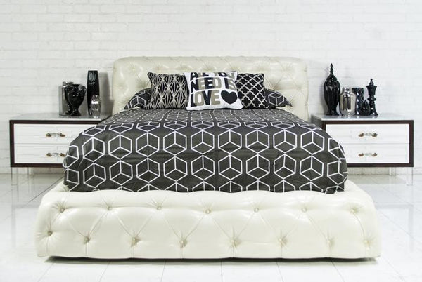 Boca Bed in Faux Snake Leather