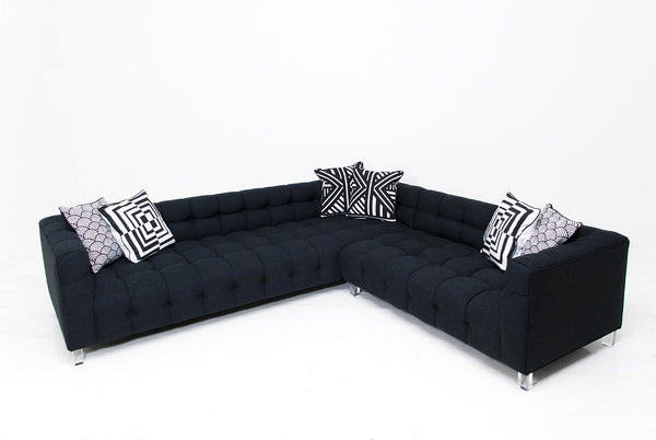 Black sectional sofa