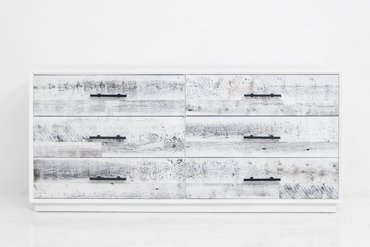 Cody Dresser in White Washed Recycled Wood - ModShop1.com