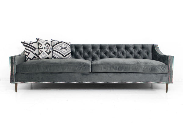 Audrey Sofa in Charcoal Velvet