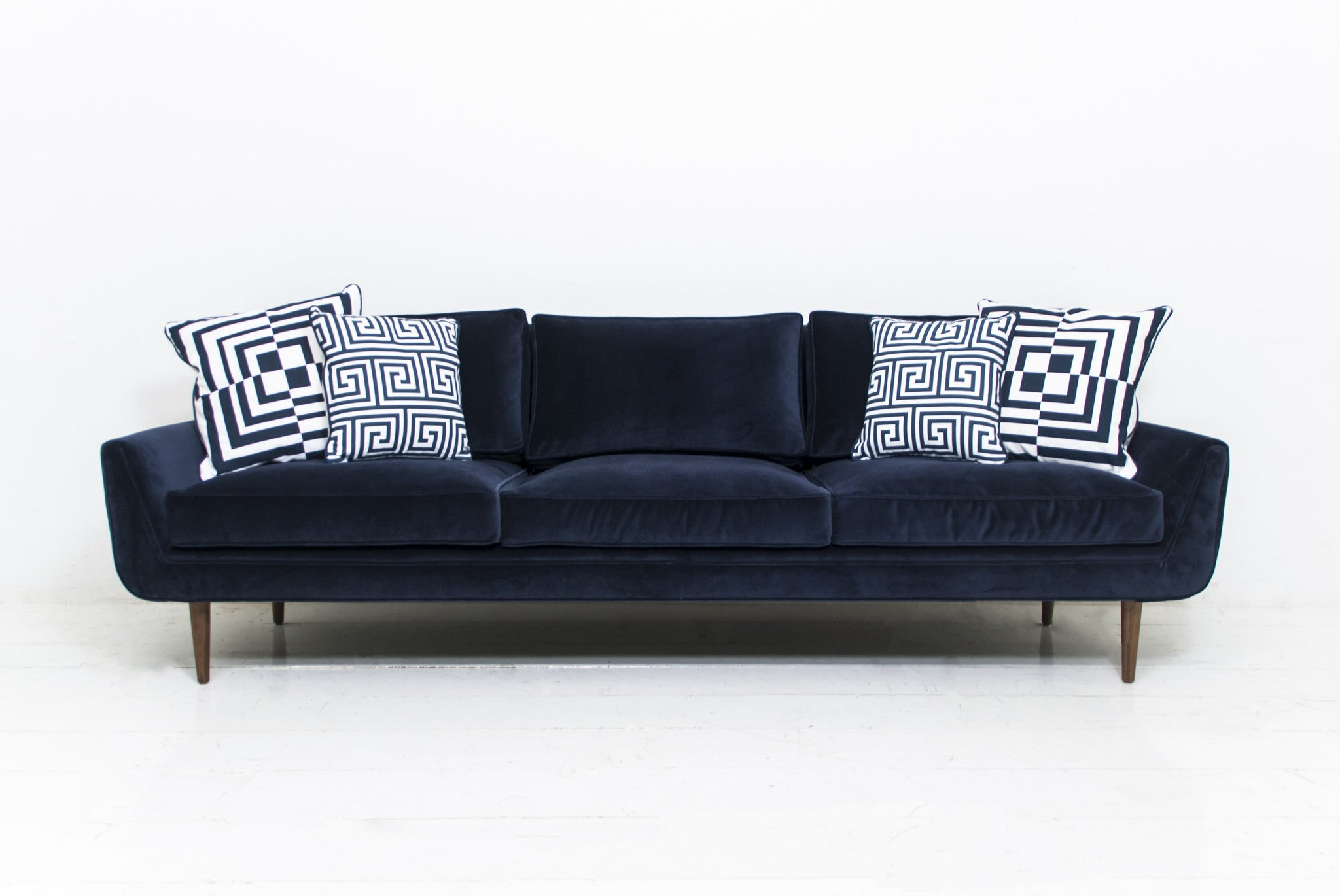 Kleine Sofa Dekoration : Stockholm sofa in navy velvet modshop