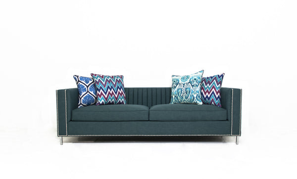 Acapulco Sofa in Emerald Linen