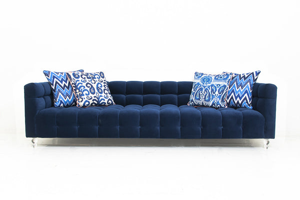 Delano Sofa in Navy Velvet