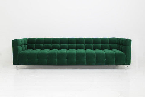Delano Sofa In Emerald Velvet