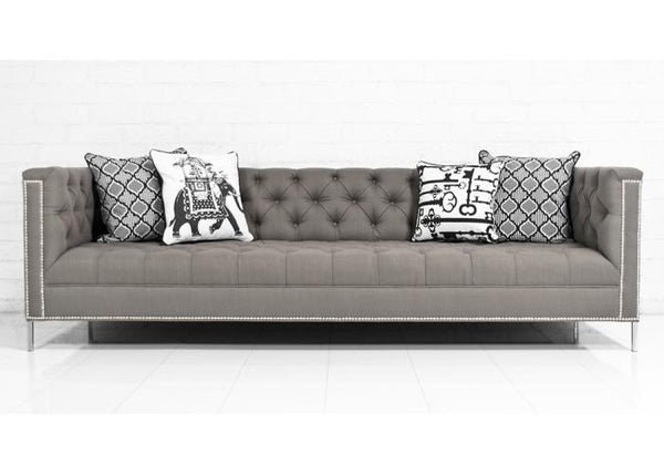 Hollywood Sofa in Textured Grey Linen - ModShop1.com