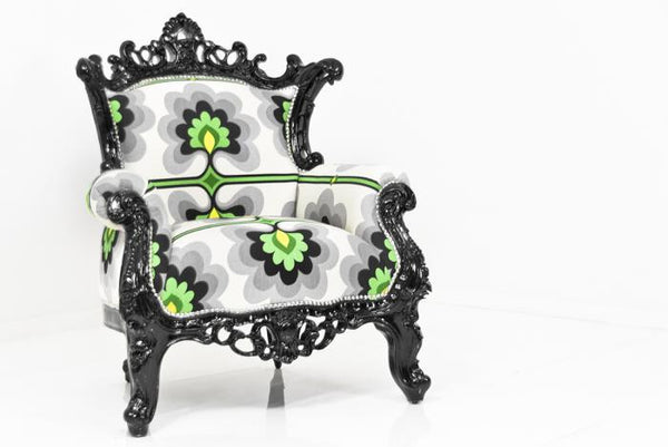 Madison Chair in Green Floral Damask