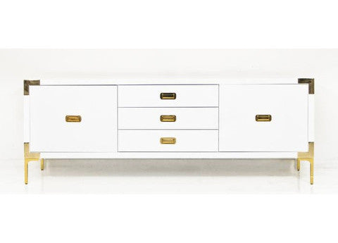 Continental Credenza with Brass Hardware