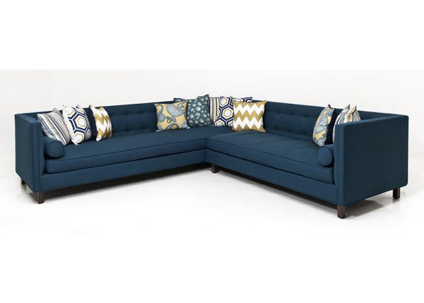 007 Sectional In Klein Azure Linen