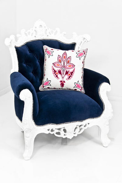 Madison Chair in Navy Velvet