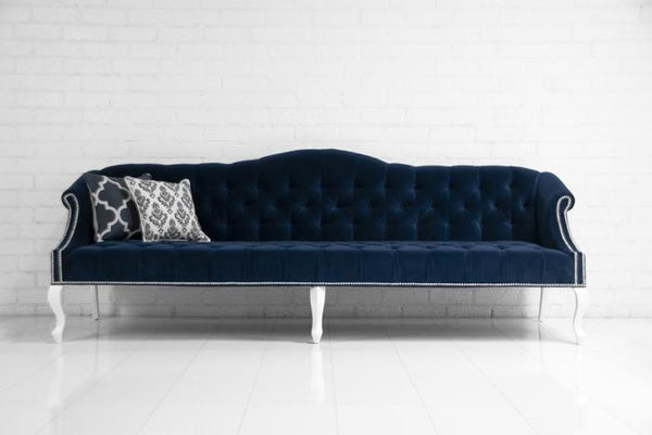 Mademoiselle Sofa in Navy Velvet