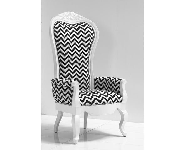 Riviera Wing Chair in Zig Zag Fabric