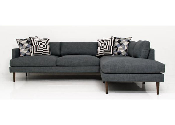 Slim Jim Sectional In Charcoal Linen