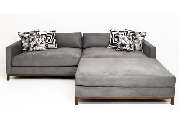 Extra New Deep Sectional in Charcoal Velvet ModShop