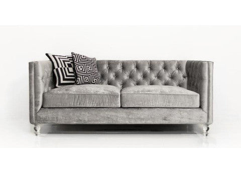 007 Loveseat in Brussels Charcoal