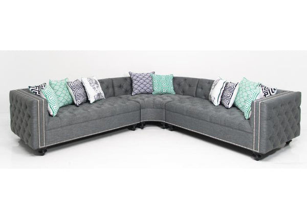 Inside Out Curved James Sectional In Key Largo Ash Linen - ModShop1.com