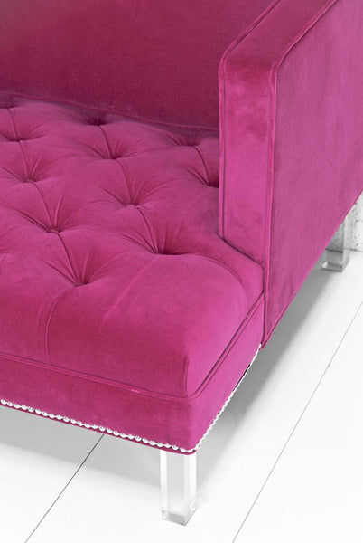 Down With Love Sofa in Pink Velvet