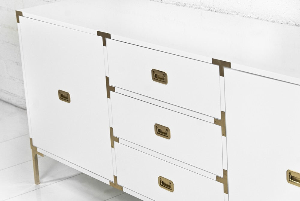 Jet Setter Credenza in White or Black - ModShop1.com