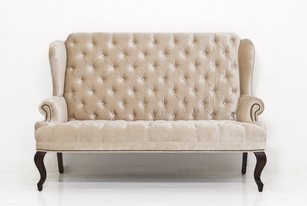 Brixton Loveseat in Brussels Pearl Velvet