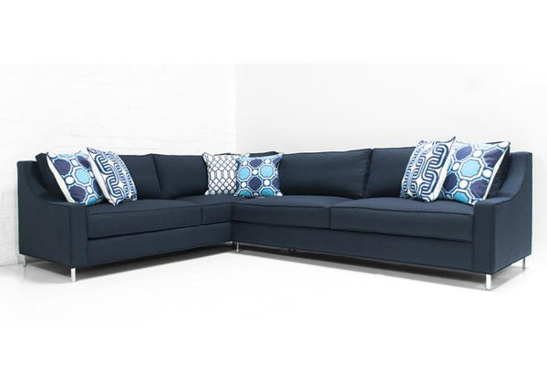 Audrey Sectional Klein Midnight Linen