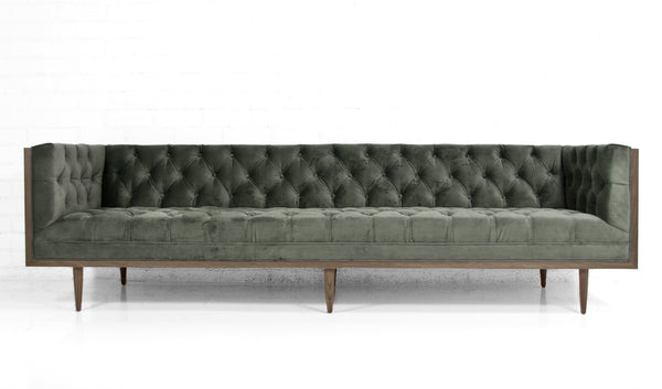 Koenig Sofa in Bella Pewter Velvet