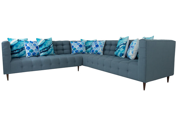 Delano Sectional in Klien Sea - ModShop1.com