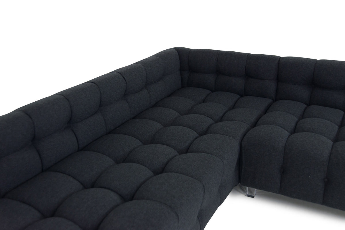 Delano Sectional in Notion Ebony - ModShop1.com