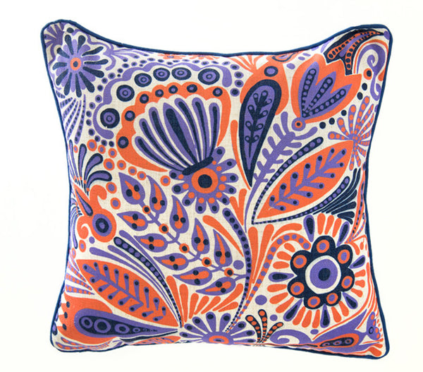 Floral Mulicolor Purple/Orange - ModShop1.com