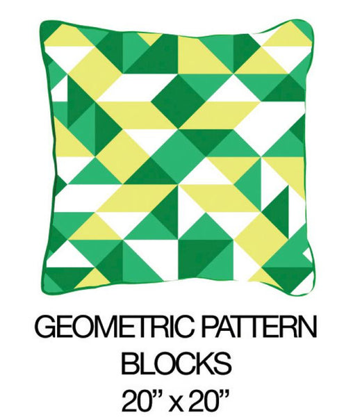 Geometric Pattern Blocks Green - ModShop1.com